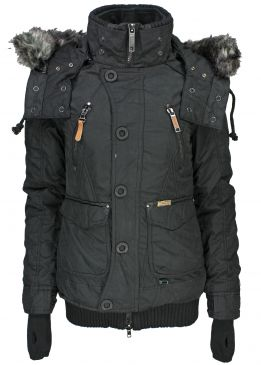 Khujo margret winterjacke black
