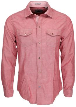 Mavi Chambary Shirt burnt poppy