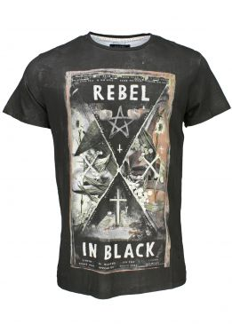 Religion Rebel In Black Tee