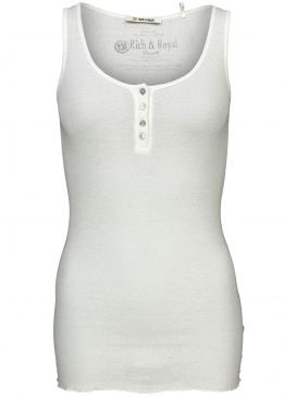 Rich & Royal New Vintage Top - Pearl White
