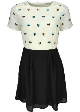 Sugarhill Boutique Heart Print Dress