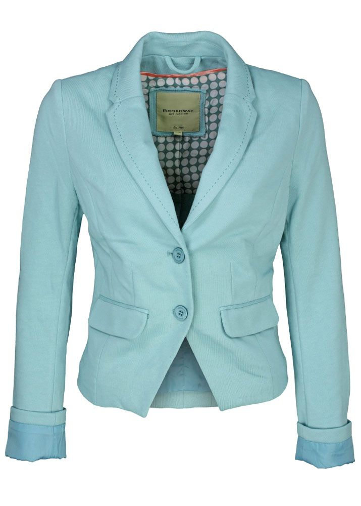 broadway nyc blazer jersey blazer mint fettebeute online shop. Black Bedroom Furniture Sets. Home Design Ideas