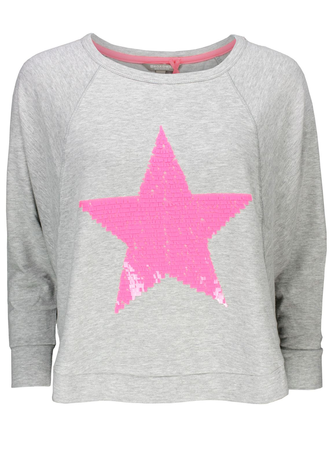 6972846bee747b Broadway NYC Pullover Stern-Pulli Pink - fettebeute Online Shop