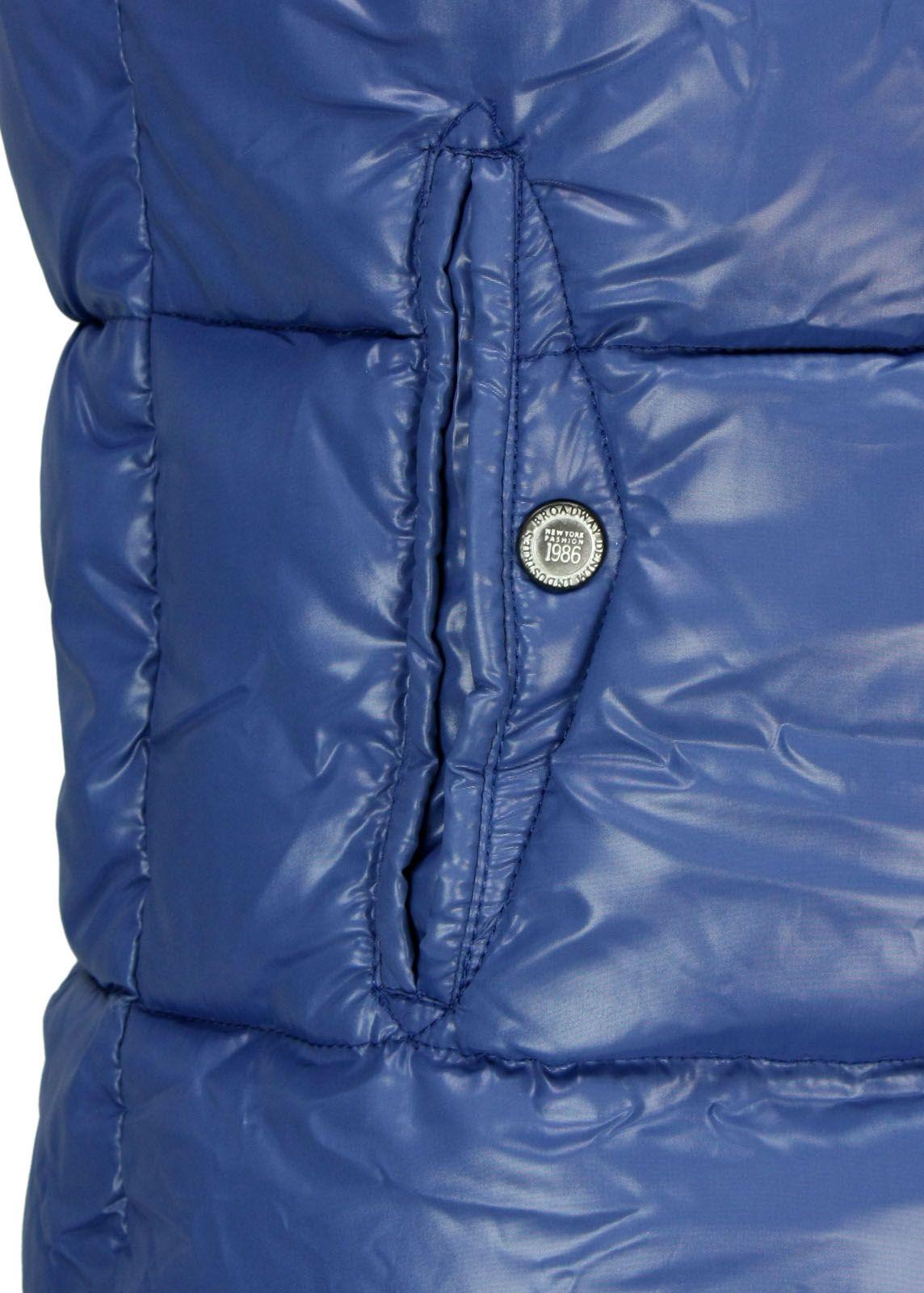 broadway nyc steppweste blau fettebeute online shop. Black Bedroom Furniture Sets. Home Design Ideas
