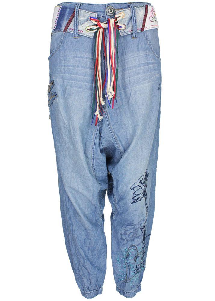 pin desigual turko haremshose blau jeans damen trendfabrik. Black Bedroom Furniture Sets. Home Design Ideas