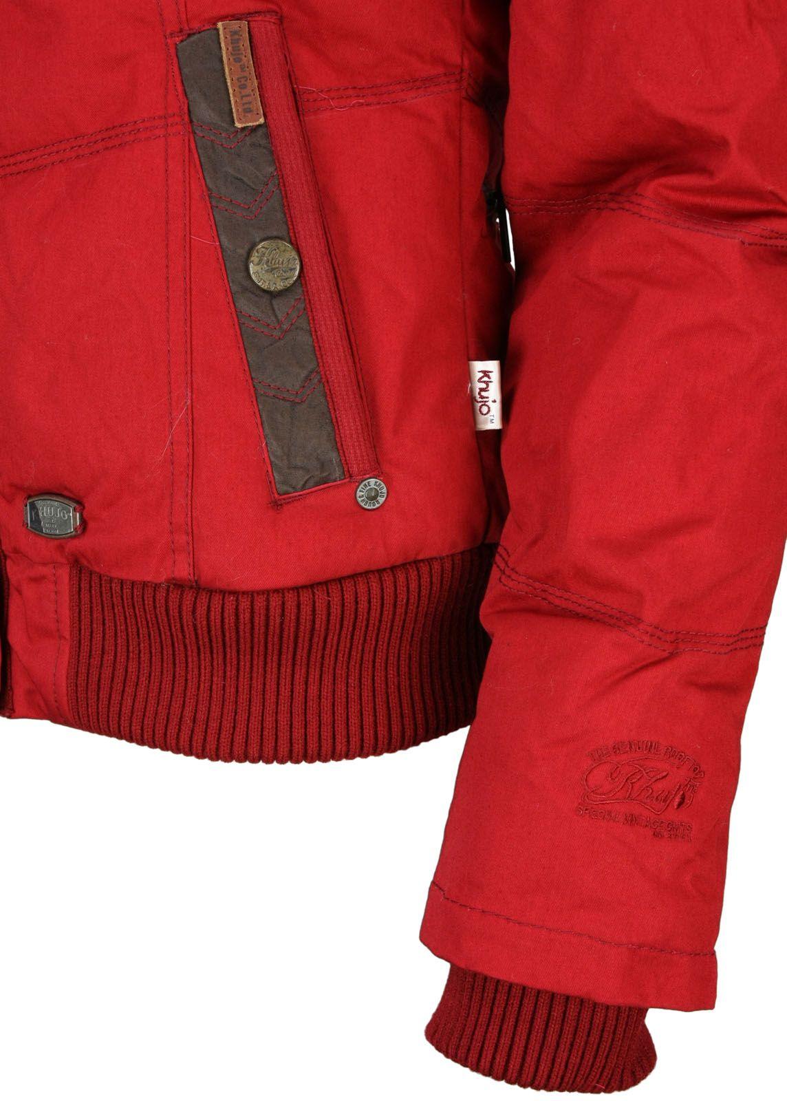 Winterjacke Berlin Fettebeute Rot Plain Khujo Online Shop MzUqSVp