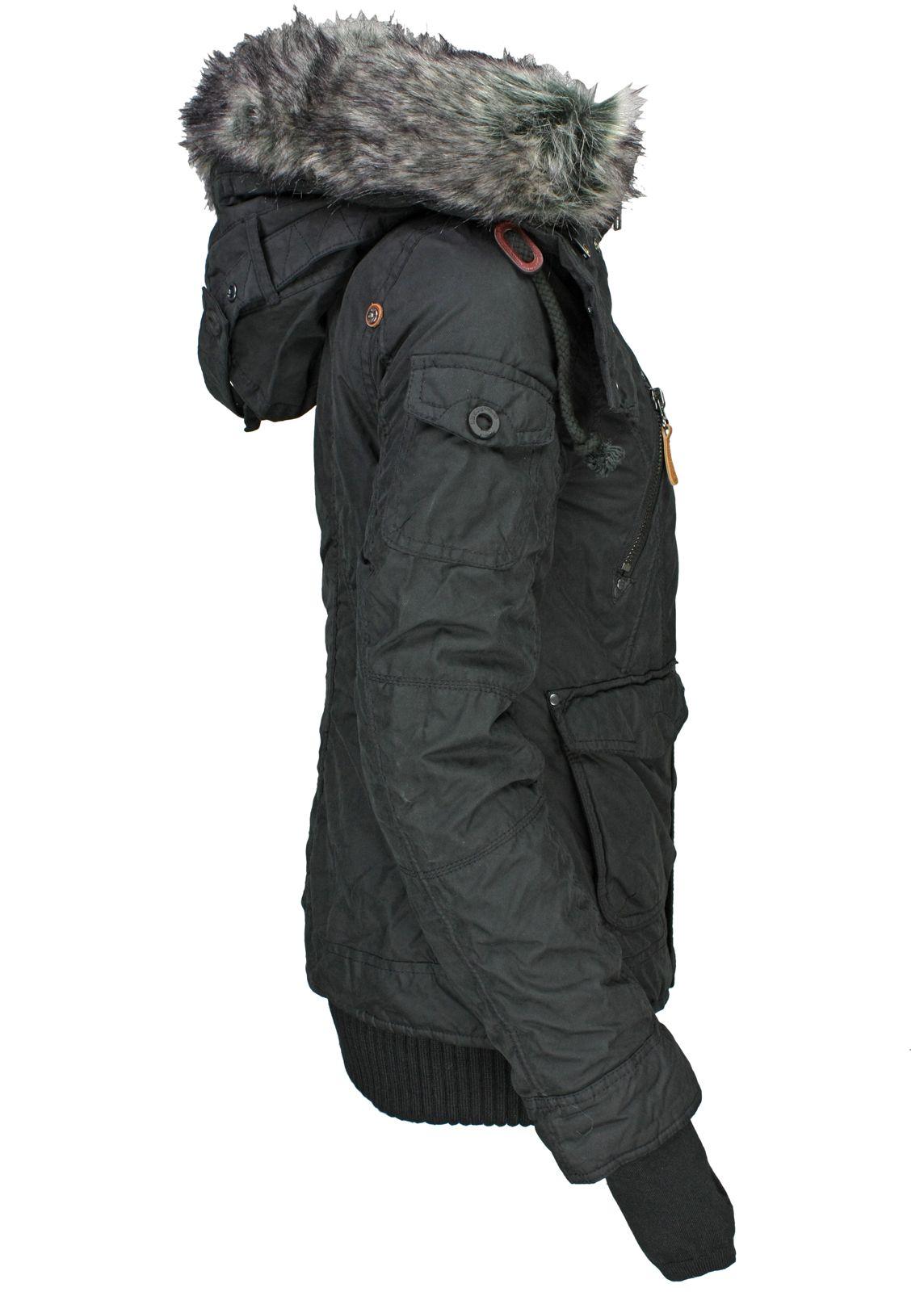 Khujo damen winterjacke margret schwarz