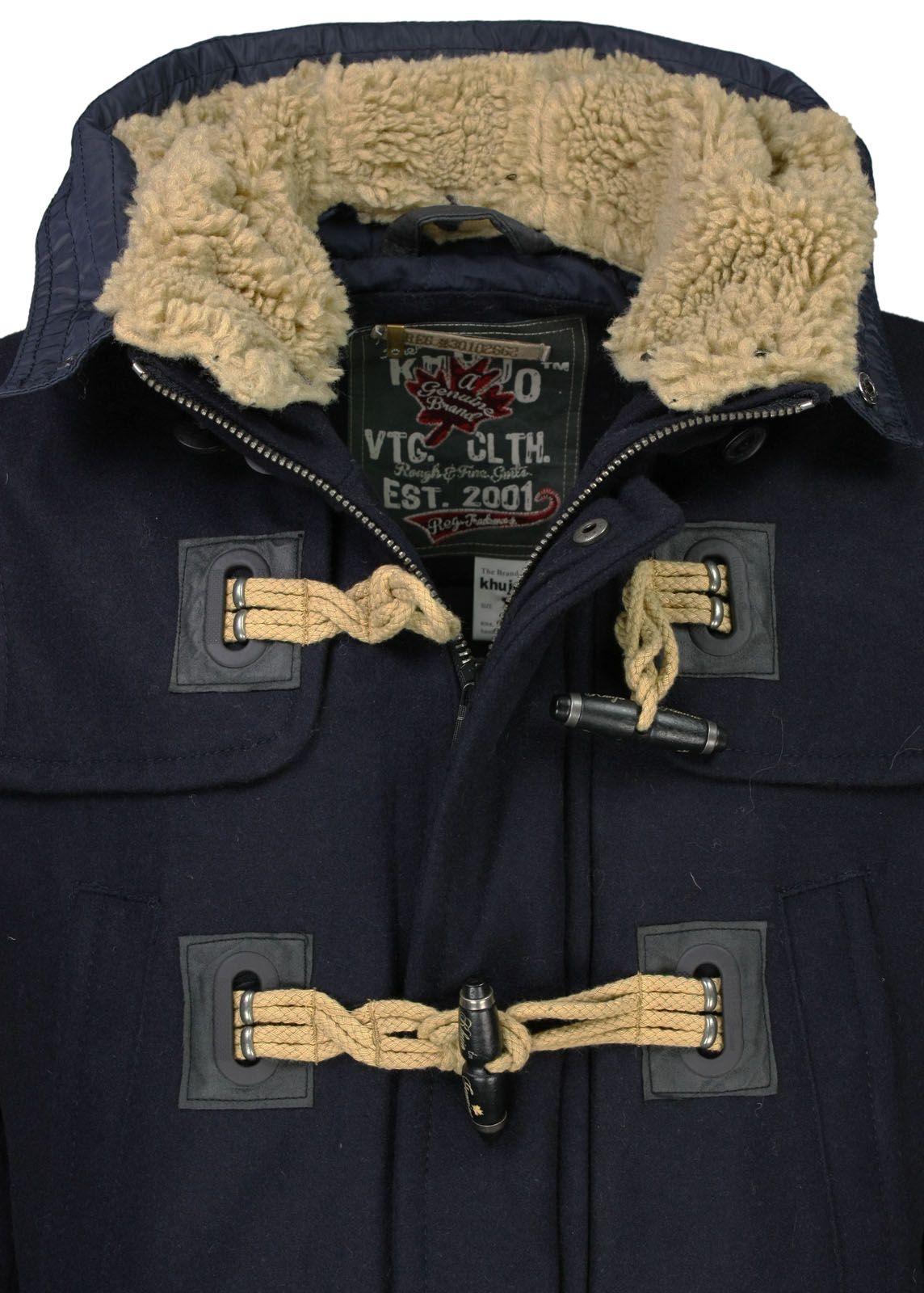 khujo Wintermantel Kurt Plain Navy fettebeute Online Shop