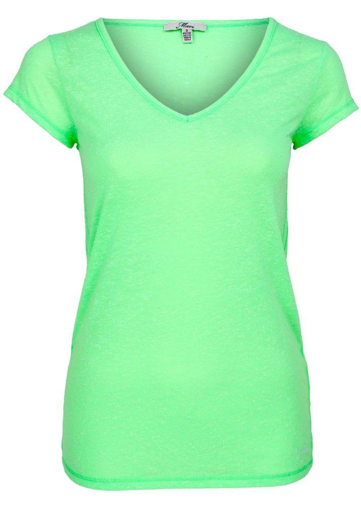 mavi shirt neon v neck top fettebeute online shop. Black Bedroom Furniture Sets. Home Design Ideas