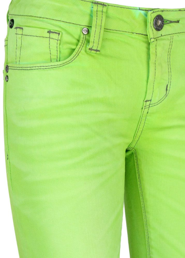 one green elephant double dye jeans josai lime light. Black Bedroom Furniture Sets. Home Design Ideas