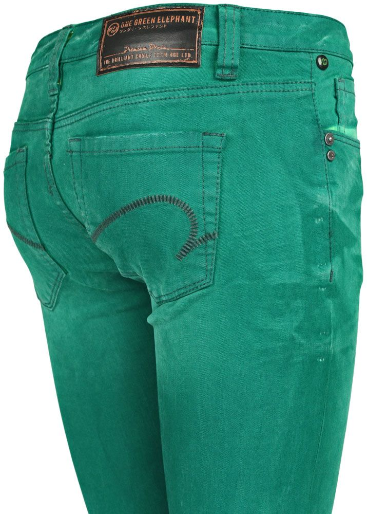 one green elephant jeans kosai green light green dd fettebeute online shop. Black Bedroom Furniture Sets. Home Design Ideas