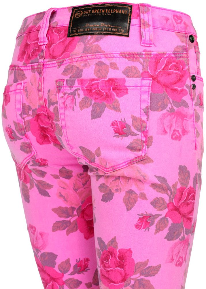 one green elephant jeans kosai pink flower fettebeute. Black Bedroom Furniture Sets. Home Design Ideas