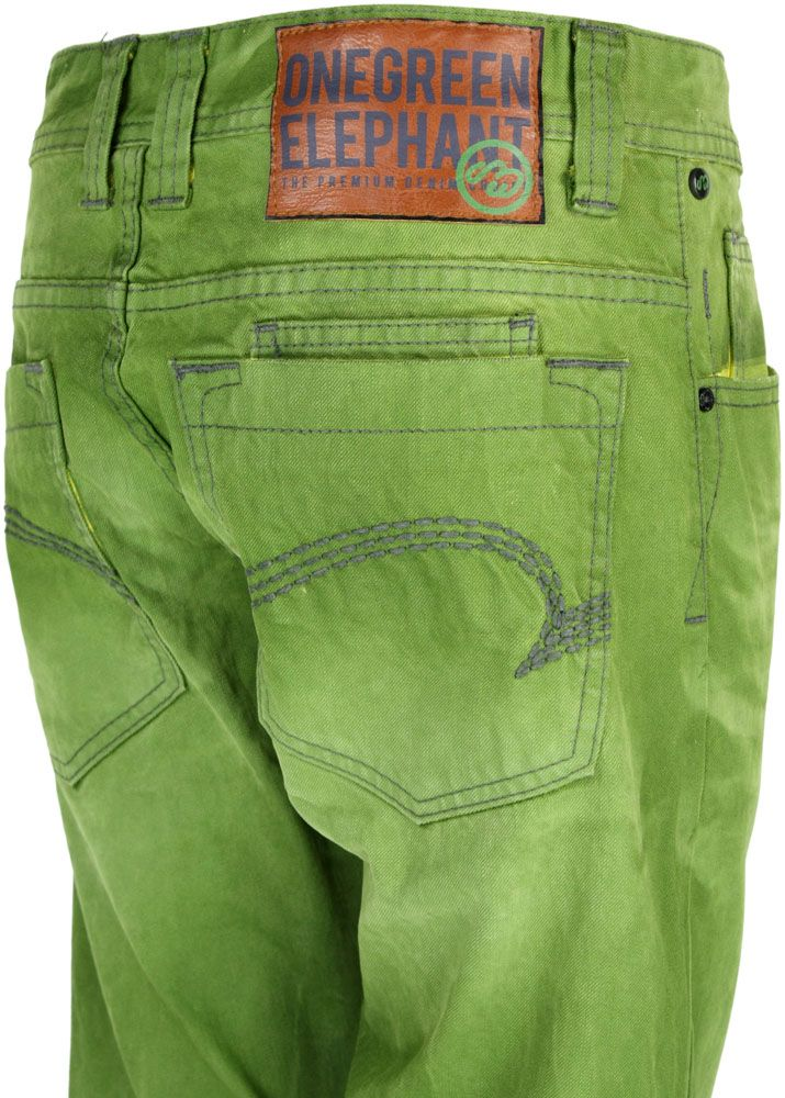 one green elephant jeans chico olive yellow dd ebay. Black Bedroom Furniture Sets. Home Design Ideas