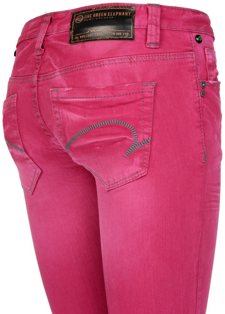 one green elephant jeans kosai hibiscus pink fettebeute online shop. Black Bedroom Furniture Sets. Home Design Ideas
