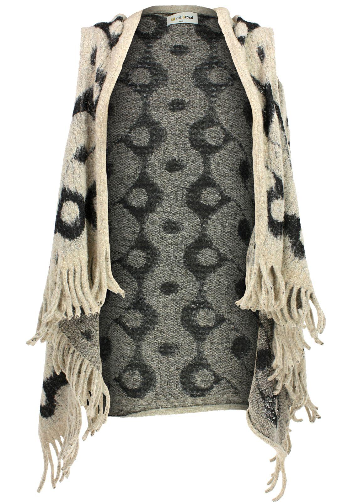 rich royal strickjacke cardigan fettebeute online shop. Black Bedroom Furniture Sets. Home Design Ideas