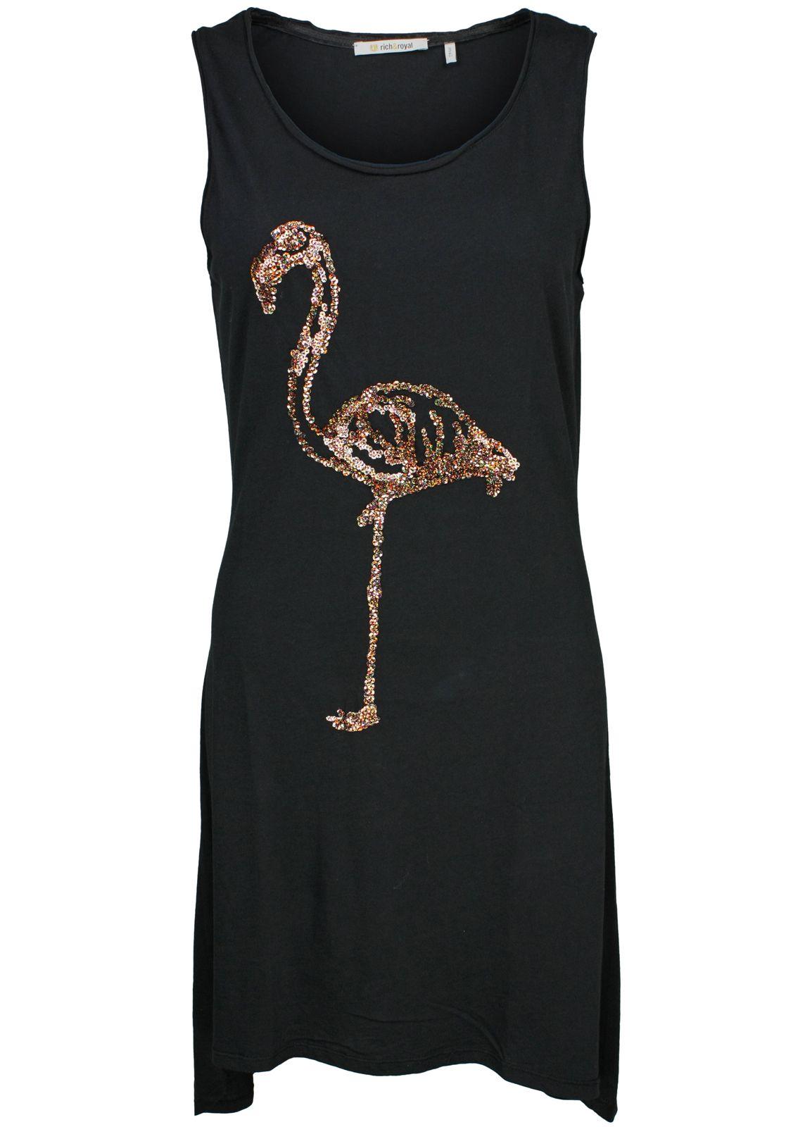 rich royal kleid jerseykleid flamingo fettebeute. Black Bedroom Furniture Sets. Home Design Ideas