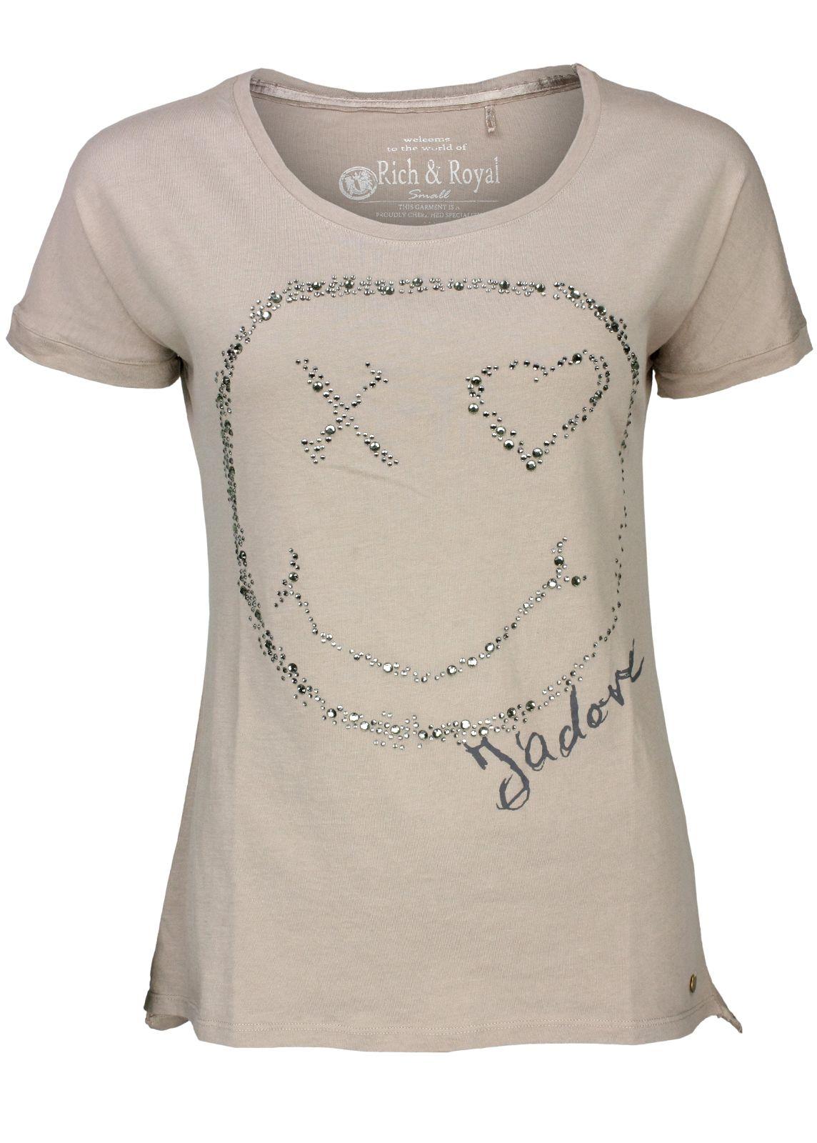 rich royal shirt smiley taupe fettebeute online shop. Black Bedroom Furniture Sets. Home Design Ideas