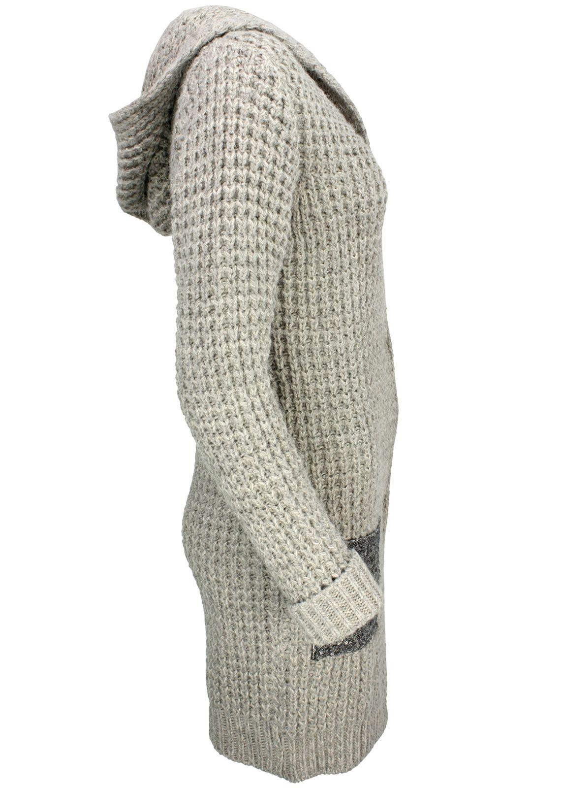 echte Qualität Werksverkauf offizielle Bilder Rich & Royal Strickmantel Strickjacke Taupe - fettebeute ...