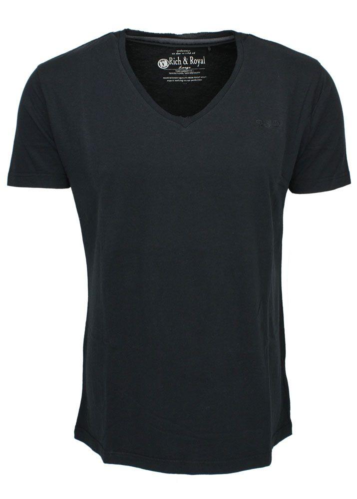 fettebeute shop rich royal t shirt v neck black online bestellen. Black Bedroom Furniture Sets. Home Design Ideas