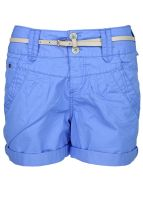 Broadway NYC - Shorts with belt bright blue